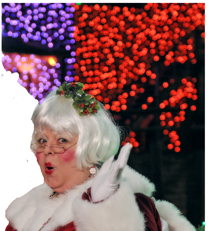 Mrs. Claus on Sleigh